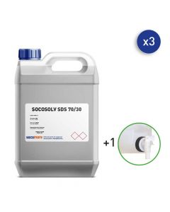 SURFACE CLEANER AND SANITIZER 5 L CAN - 3X5 L WITH 1 TAP - SOCOSOLV SDS 70/30