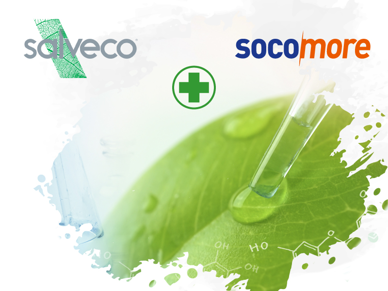 SOCOMORE and the SALVECO laboratory create the leader in hygiene and disinfection products derived from 100% healthy chemistry